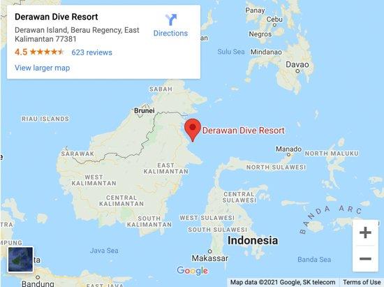 derawan island map