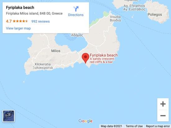 firiplaka beach map