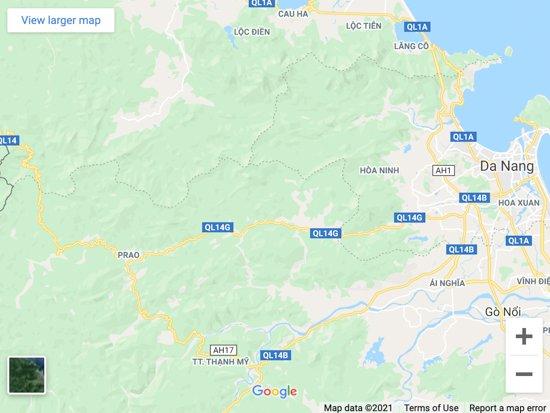 golden bridge vietnam map