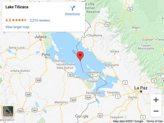 lake titicaca map