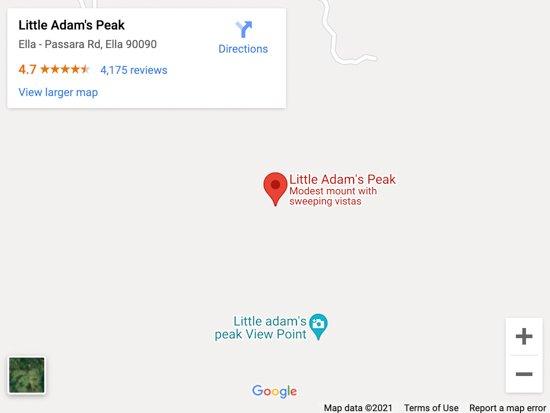 little adams peak map