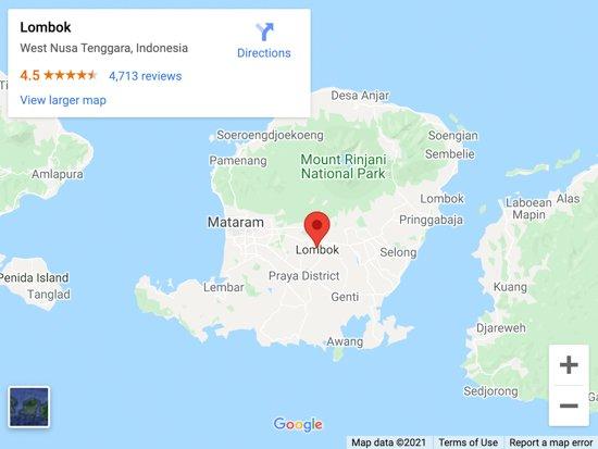 lombok map