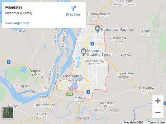 madalay map