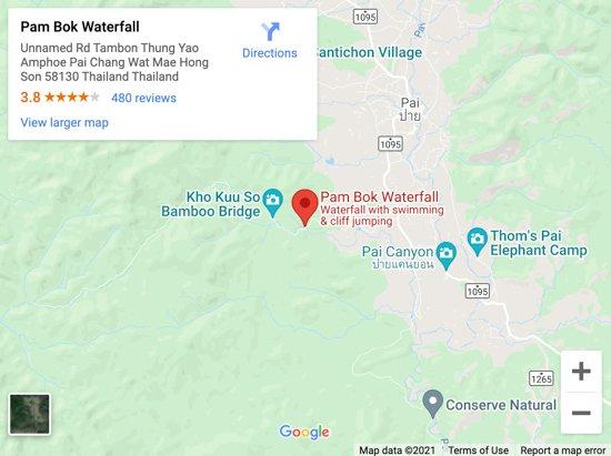 pambok waterfall map