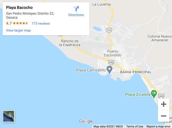 playa bacocho map