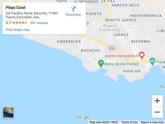 playa coral map