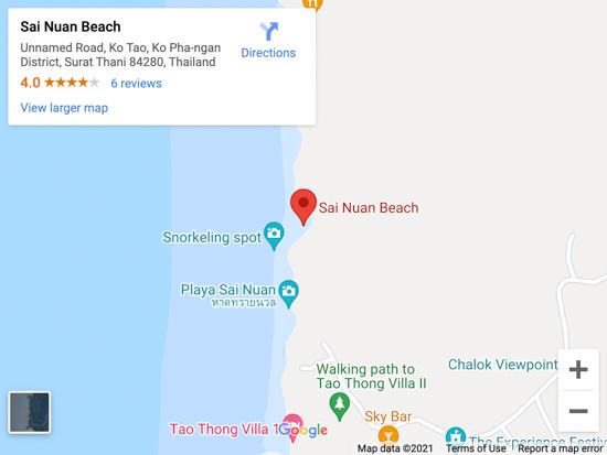 sai nuan beach map