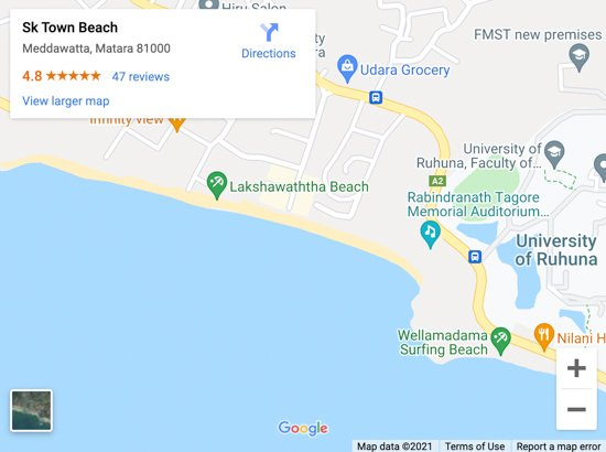 sk town beach map