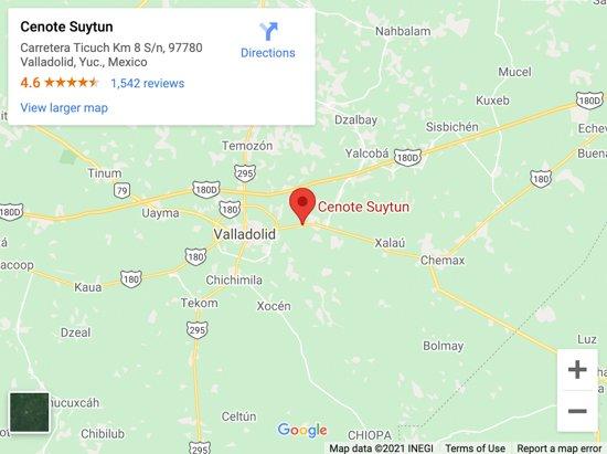 suytun cenote map