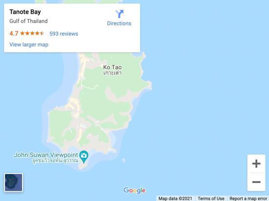 tanote bay map