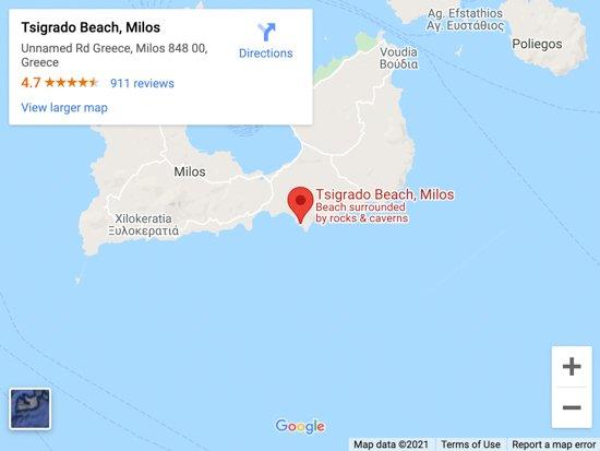 tsigrado beach map