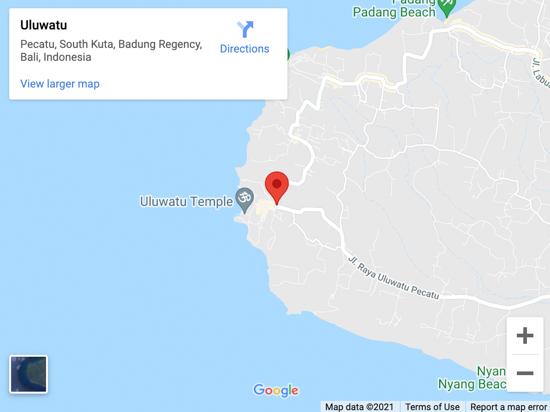uluwatu map