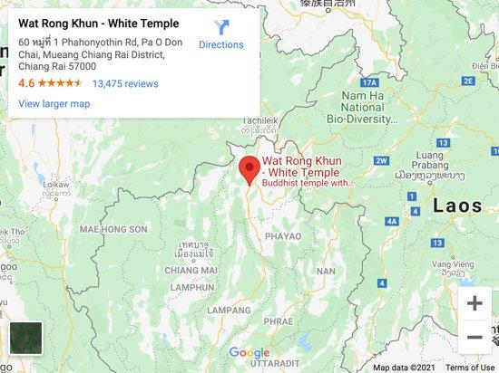 white temple chiang rai map