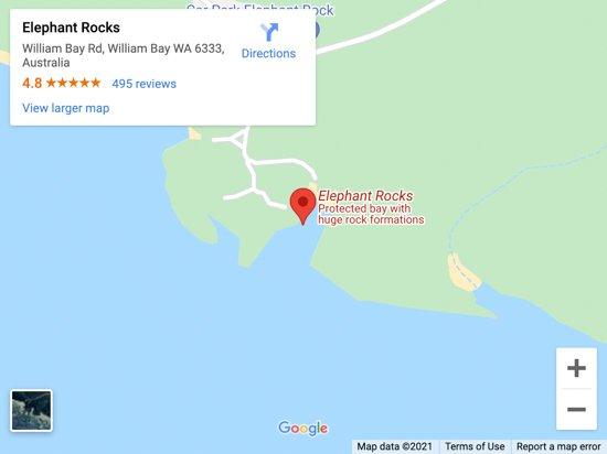 elephant rocks map