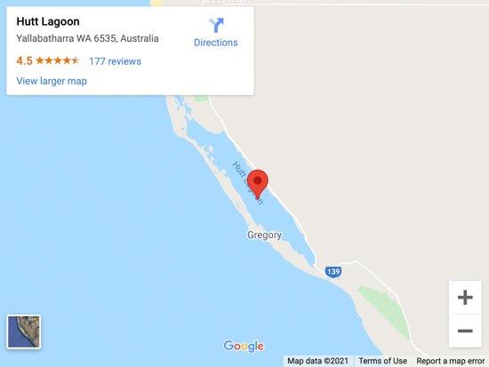 hutt lagoon map