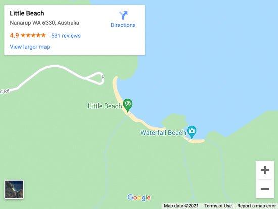 little beach map