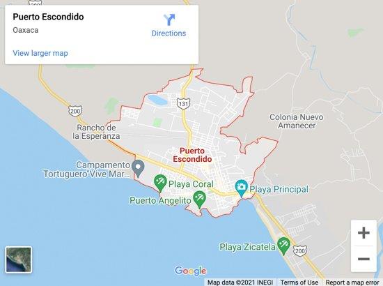 puerto escondido map