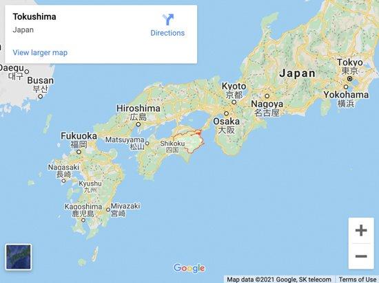 tokoushima map