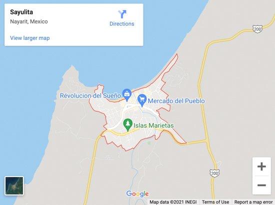 sayulita map