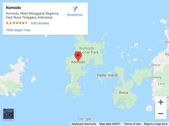 komodo map
