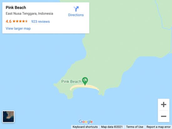 pink beach komodo