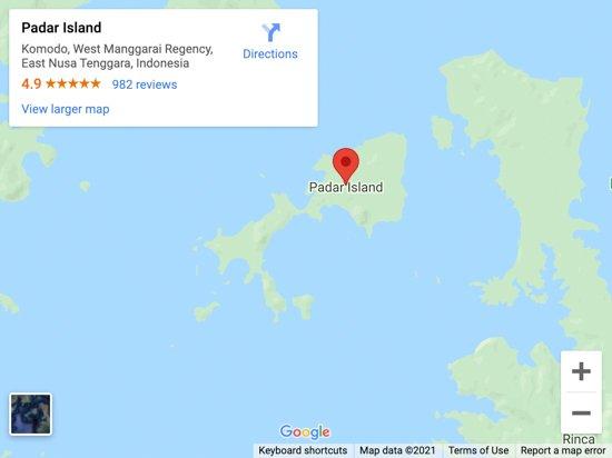pulau padar map
