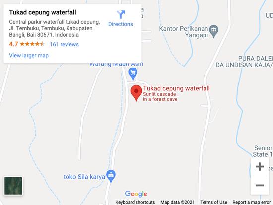 tukad cepung waterfall map
